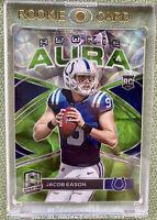 Jacob Eason 2020 Panini Spectra /30 Green Prizm Rookie Aura RC Colts