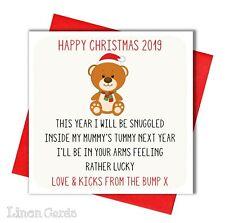 Christmas Card From The Bump Daddy Mummy Announcement Bump Christmas Card.