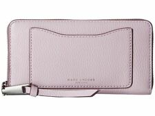 Marc Jacobs Recruit CONTINENTAL Clutch Wallet Pale Lilac Pebbled Leather