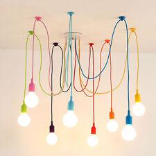Unbranded plastic chandeliers ebay art colorful pendant lights diy spider chandelier silicone hanging ceiling lamp 10 heads aloadofball Images