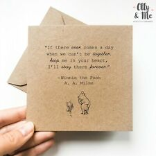 Winnie the Pooh Inspirational/Positivity Quote Card Friend Miss You/Love You