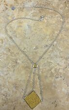 """CHRISTINE DARREN BOLD DRUSY SWING DROP 18"""" STERLING SILVER NECKLACE HSN SOLD OUT"""
