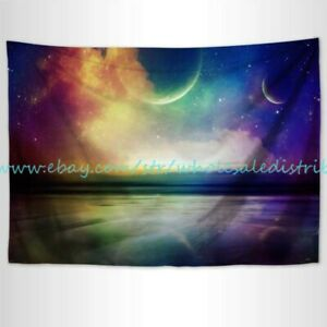 at home wall art rainbow planet galaxy tapestry cloth poster