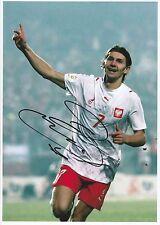 Ebi smolarek poland int 2004-2010 original main signé grande photographie
