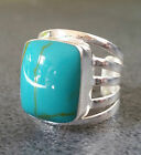 Handcrafted Bali Silver Ring with Turquoise style Stone- Adjustable