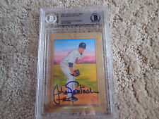 2007 TOPPS Turkey Red #159 JOHAN SANTANA Signed BASEBALL CARD AUTO Beckett SLAB
