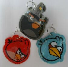 Angry Birds Novelty Key Chain Ring 3 Pack Red Bird Blue Bird & Owl Fun Gift