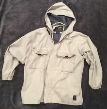 Abercrombie & Fitch Outdoor Tan Jacket Size Medium M Hiking Hoodie Mens Womens