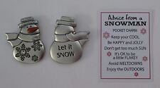 bb Let it Snow ADVICE FROM A SNOWMAN pocket token charm Ganz