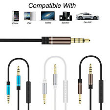 3.5mm to 3.5mm Jack Male Audio AUX Cable Cord With Mic for Car/Headphone/Speaker
