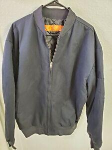 "Red Kap Men's Slash Pocket Jacket Navy Size XL(50"" Chest/28""Length)"