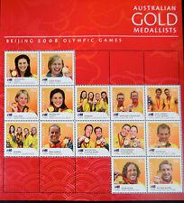 Australian Stamps: Beijing Olympics 2008 Sheet - Australian Gold Medallists