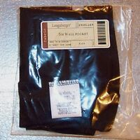 Longaberger Black SMALL WALL POCKET Basket Liner ~ Brand New in Bag!