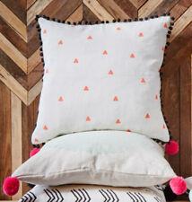 "Tiny Orange Triangles Cushion Cover 60cm / 24X24"" -100% Hand Printed Linen BNWTS"