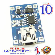 10x 18650 5V Mini USB Lithium Battery Charger Board Module 1A