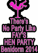 ✿✿PARTY COCKTAIL GLASS .. HEN NIGHT IRON ON TRANSFER CREATE T SHIRTS CHEAPLY ✿✿