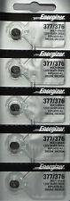 Energizer 377/376 (SR626SW) Silver Oxide Battery 1.55 Volt 5 Pk