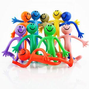Bendy Smile Man 12cm ALL COLOURS ADHD autism party fidget fiddle toy bendable
