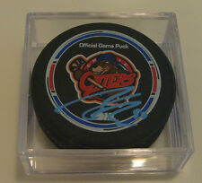 Connor McDavid Erie Otters Hockey Puck COA Signed OHL CHL Autograph IIHF Auto