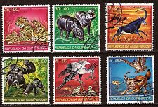 GUINEE- BISSAU 6 TIMBRES N° A34C: Gorille,hippopotame,Fenec tigre etc.. 135T3