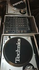More details for technics sl-1200mk2 - pair & pioneer djm-500 dj mixer (in flight cases)