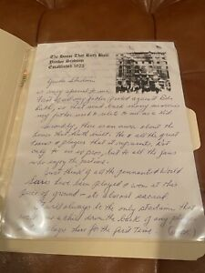 Duane Pillette Autographed Letter Discussing Babe Ruth & Yankees - MUST SEE