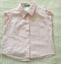 United Colors Of Benetton White/pink Checkered Blouse/top Size 24months(90cm)
