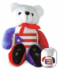 "PUERTO RICO HONOR BEAR WITH FLAG FRONT & BACK, 8"" TALL"