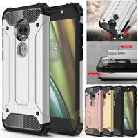 For Moto G6 Play, G6, E5 Plus, E5 Play, E4 Rugged Armor ShockProof Case Cover
