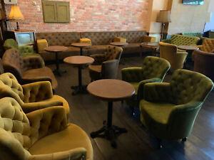 Shisha Sessel nach maß Gastro Einrichtung Lounge Sitzbank 100cm Bar Hocker Sitze