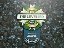 Springhead The Leveller beer pump clip sign