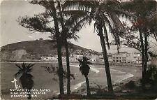 Real Photo Postcard Aspecto de Olas Altas Beach Mazatlan Sin. Mexico MF Unposted