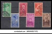 INDIA - 1952 INDIA YEAR UNIT - 6V - USED