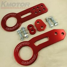 RED JDMSPEED High Performance CNC Aluminum  Racing Front Rear Tow Hook Kit