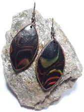 Orecchini orecchino nero/rosso Mokume urinarie PolymerClay handmade pezzo unico
