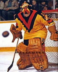 Vancouver Canucks Goalie John Garrett Game Action Color 8 X 10 Photo Picture