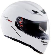 Casques blancs brillants moto pour véhicule taille XS