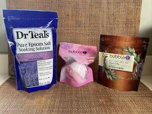 Bubble T Earl Grey Bath Tea Salt Fizzer Bath Bomb Vanilla Dr Teal's Epsom Salt