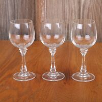 3 Line Pattern Clear Glass Sherry Goblets Wine Cup