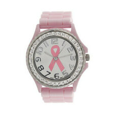 Women Quartz Watch Girl Analog Silicone Watch Crystal Cancer Dial Wrist Watch