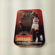 1996 Upper Deck MICHAEL JORDAN Metal Collector Cards #1-5 Sealed w/ Tin Box 🔥