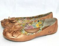 B.O.C. Born Concept Womens Ballet Flats Leather Metallic Copper Skimmer Sz 7