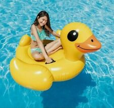 Inflatable Yellow Duck Ride-On Pool,Lake, Float,(Giant Rubber Duck) Intex