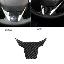 1x For Honda Civic 10th Gen 2016-19 Carbon Fiber Inner Steering Wheel Panel Trim