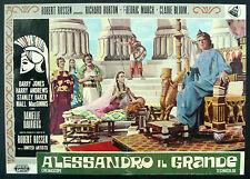 CINEMA-fotobusta ALESSANDRO IL GRANDE burton, march, ROBERT ROSSEN