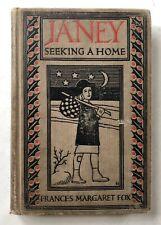 1925 JANEY SEEKING A HOME FRANCES M FOX JUV HC ART DECO ILL DOROTHY LAKE GREGORY