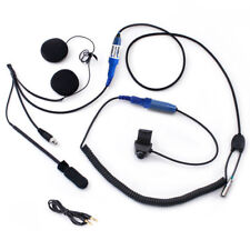 Motorcycle Helmet Communication Kit w PTT, Speakers & Mic, Cables & Cords Kit