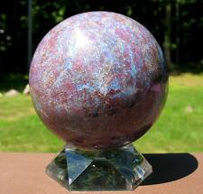 Large Ruby & Kyanite Crystal Ball / Sphere