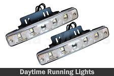 2pcs x 5 LED Daylight Xenon White DRL Daytime Running Lights Fog Lamps E4 001-2