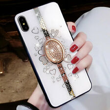 Bling Diamond Case For iPhone X/XS Max/XR/6/7/8 Plus Phone Back Cover Ring Stand